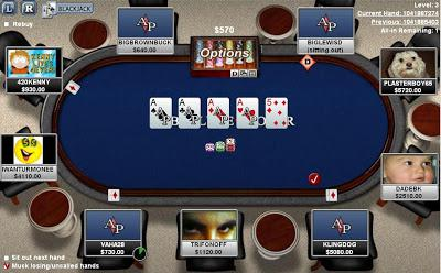 Four Aces on the table