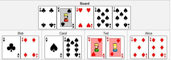 Texas hold'em - example hand